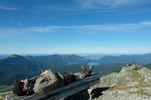 Jon Christoph Berndt auf dem Berg